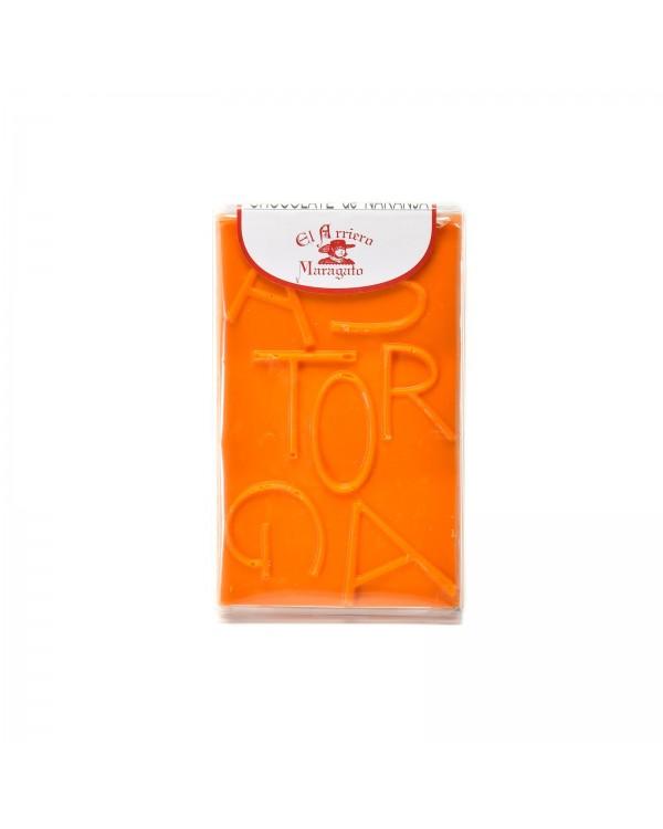 Tableta chocolate con naranja 80 gramos